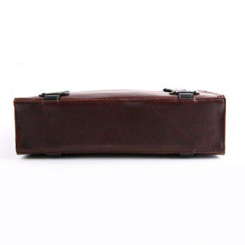 Trendy Rivets and Magnetic Closure Design Briefcase For Men - COFFEE