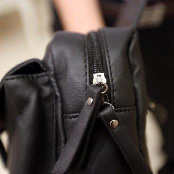 Fashionable Belt and Rivets Design Messenger Bag For Men -  BLACK