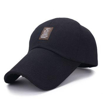 Stylish Patch Rubber Embellished Solid Color Men's Visor