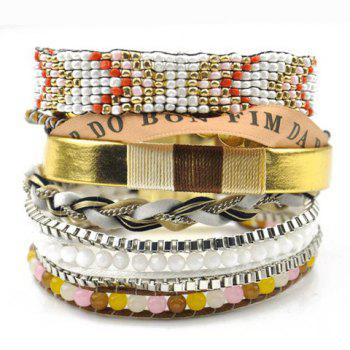 Retro Ethnic Beads Weaved Bracelet For Women