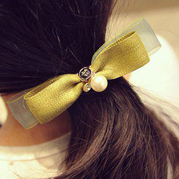 Sweet Faux Pearl Bow Hairgrip For Women - GREEN GREEN