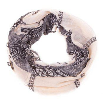 Chic Black Lace Pattern Women's Voile Scarf - BLACK