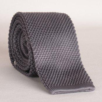 Stylish Gray Men's Knitted Neck Tie - GRAY GRAY