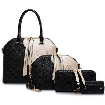 Color Block Handbag Set
