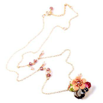 Trendy Beads Flower Women's Pendant Necklace