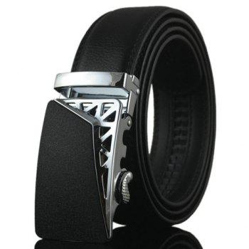 Stylish Hollow Out Triangle Shape Embellished Alloy Buckle Men's Belt