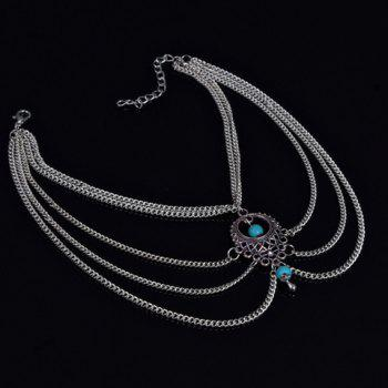 Classic Ethnic Style Hollow Out Multi-Layered Anklet For Women