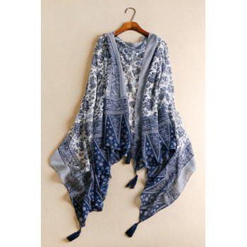 Chic Tassels Embellished Ethnic Printed Multifunctional Women's Pashmina
