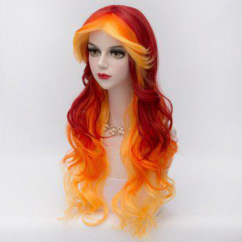 75CM Ombre Cosplay Hair Layered Long Wavy Heat-Resistant Fashion Lolita Harajuku Costume Wig - COLORMIX
