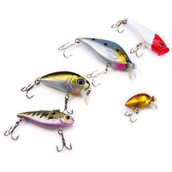 Yoshikawa Lifelike Hard Fishing Lure Set with Hooks for Fishing Lovers 5pcs -  AS THE PICTURE