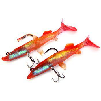 Yoshikawa 13cm / 22g Vivid Soft Fishing Lure ( BWPK120 ) Metal Bait with 2 Hooks -  RANDOM COLOR