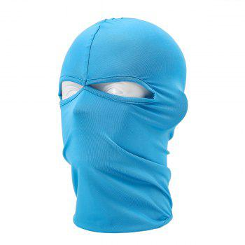 Sun Protective Wrapped Head Cap Mask with Double Orifice for Outdoor Cycling and Fishing etc. - AZURE AZURE