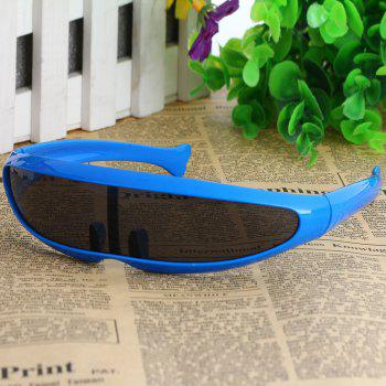 Unisex Outdoor Cycling Goggles Glasses Dust-proof Windproof Integrated Sunglasses - BLUE FRAME AND BLACK LENS BLUE FRAME/BLACK LENS