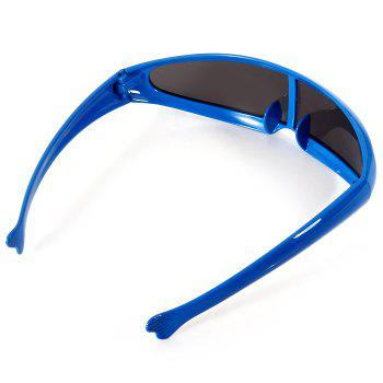 Unisex Outdoor Cycling Goggles Glasses Dust-proof Windproof Integrated Sunglasses -  BLUE FRAME/BLACK LENS