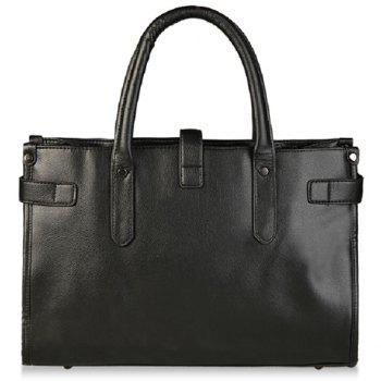Trendy Rivets and Solid Color Design Briefcase For Men
