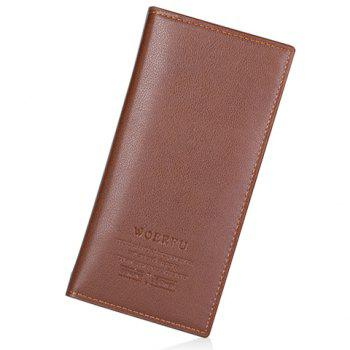 Stylish PU Leather and Letter Print Design Wallet For Men - COFFEE COFFEE