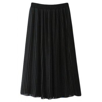 Stylish High Waisted Pleated Chiffon Women's Skirt