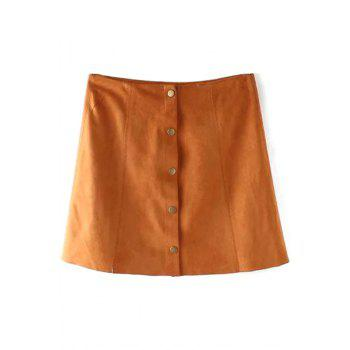 Stylish High Wasited Faux Leather A Line Women's Skirt