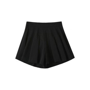 Fashionable Solid Color Loose-Fitting Zipper Fly Shorts For Women