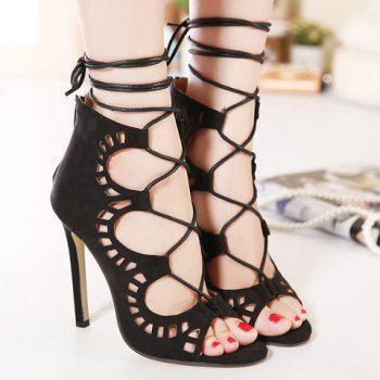 Sexy Criss-Cross and Hollow Out Design Sandals For Women