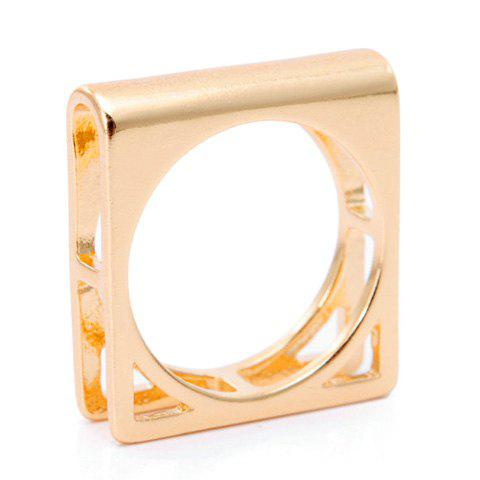 Characteristic Retro Style Double-Layered Square Shape Earrings For Women - GOLDEN ONE-SIZE