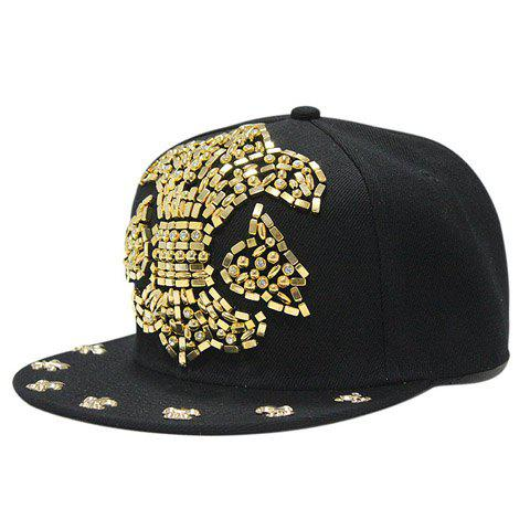 Stylish Rhinestone Big Spearhead Shape Embellished Men's Baseball Cap - GOLDEN