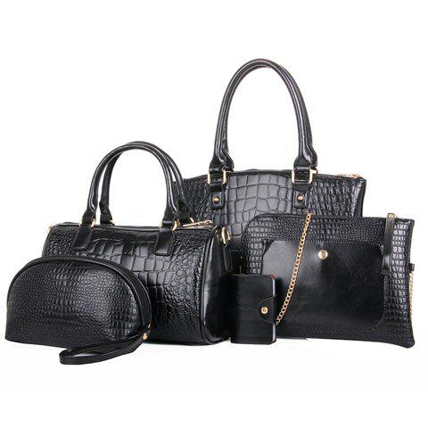 Gorgeous PU Leather and Crocodile Print Design Tote Bag For Women