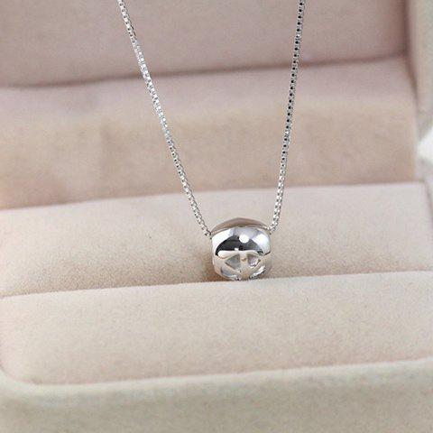 Stylish Chic Hollow Out Necklace For Women - SILVER