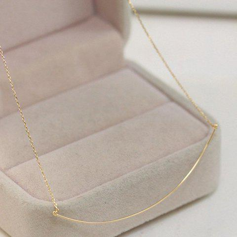 Simple Solid Color Link Necklace For Women - GOLDEN