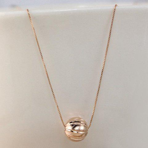 Simple Laconic Ball Pendant Necklace For Women - ROSE GOLD
