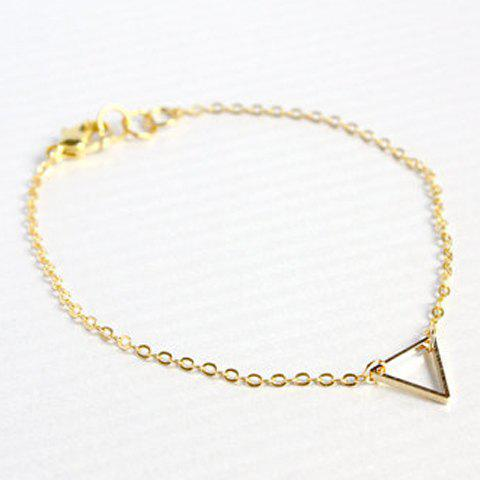 Link Chain Triangle Charm Bracelet - GOLDEN