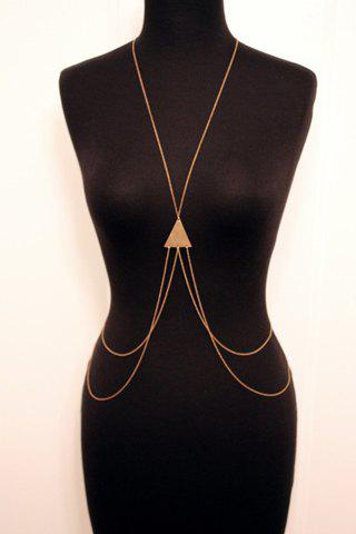 Stylish Laconic Triangle Layered Body Chain For Women - GOLDEN