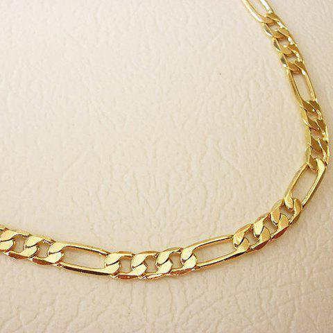Delicate Solid Color Anklet For Women - GOLDEN