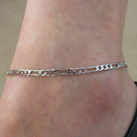 Simple Solid Color Anklet For Women - SILVER