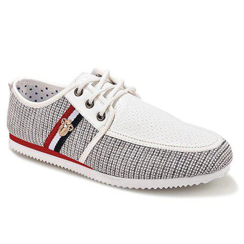 Stylish Style Splicing and Round Toe Design Men's Casual Shoes - BLUE 39