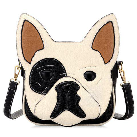 Cute Animal Pattern and Color Block Design Crossbody Bag For Women - APRICOT
