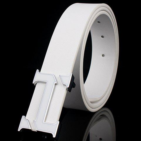 Stylish Rupturing Letter H Shape Alloy Embellished Belt For Men