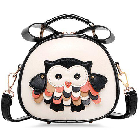 Fashionable Color Block and Owl Design Crossbody Bag For Women