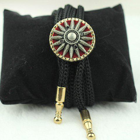 Stylish Vintage Shape Alloy Embellished Bolo Tie For Men - BLACK/GOLDEN