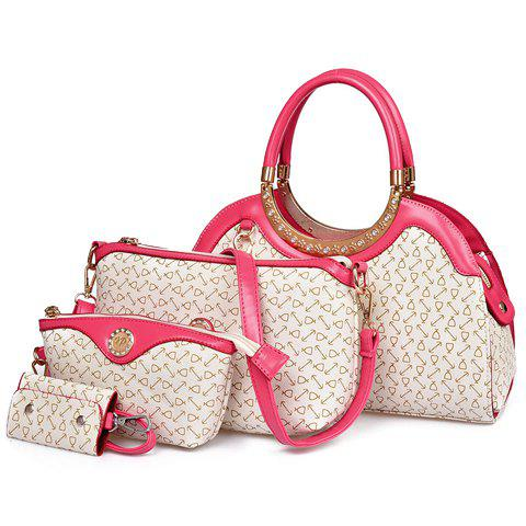 Fashionable Rhinestones and Printed Design Tote Bag For Women