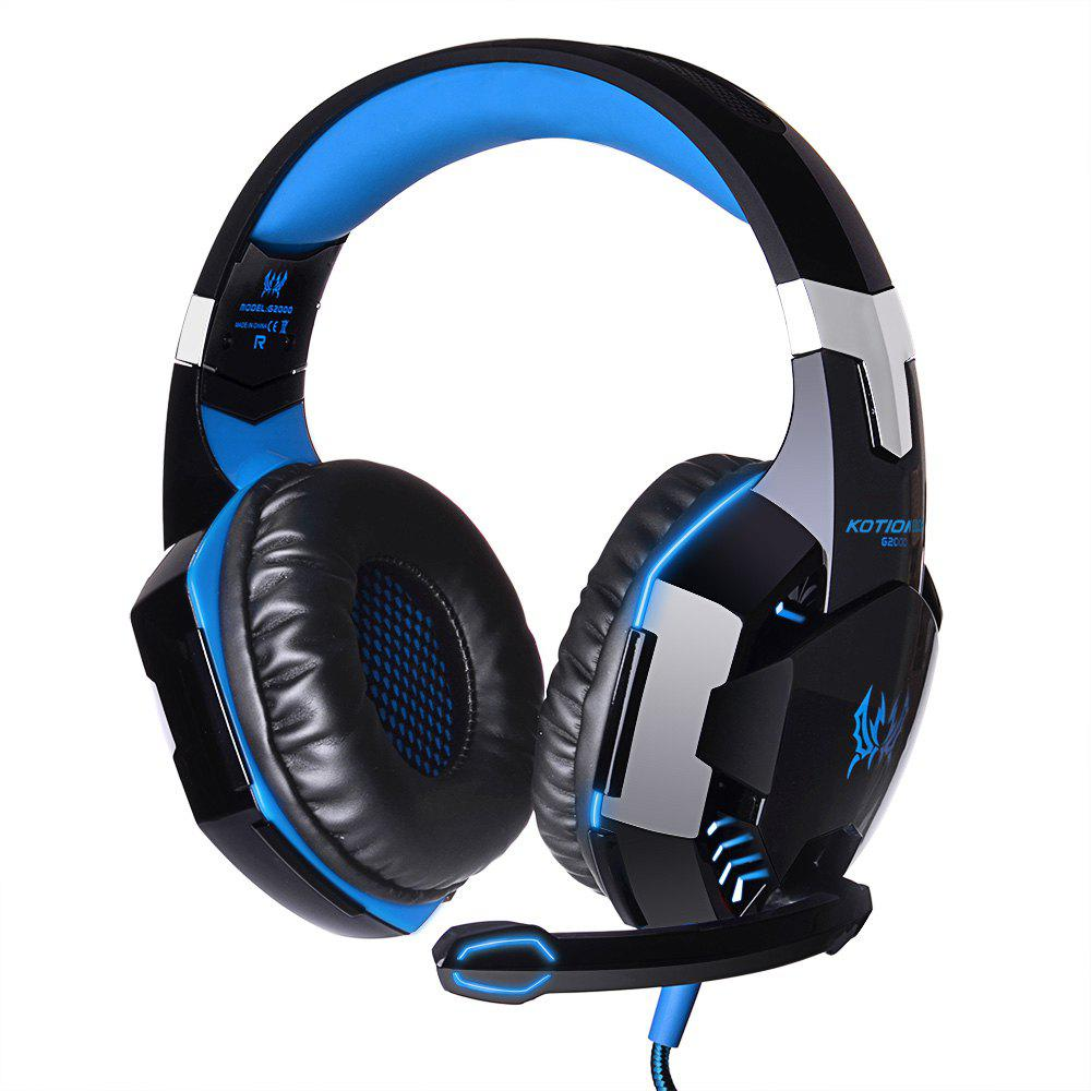 EACH G2000 Gaming Headset Stereo Sound 2.2m Wired Headphone Noise Reduction with Microphone for PC Game magift gaming headset earphone sound effect deep bass computer game headphones with microphone led light for computer pc gamer
