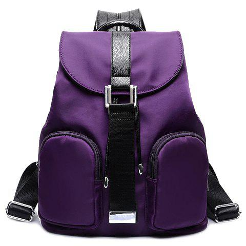 Stylish Style Splice and Waterproof Design Satchel For Women - PURPLE