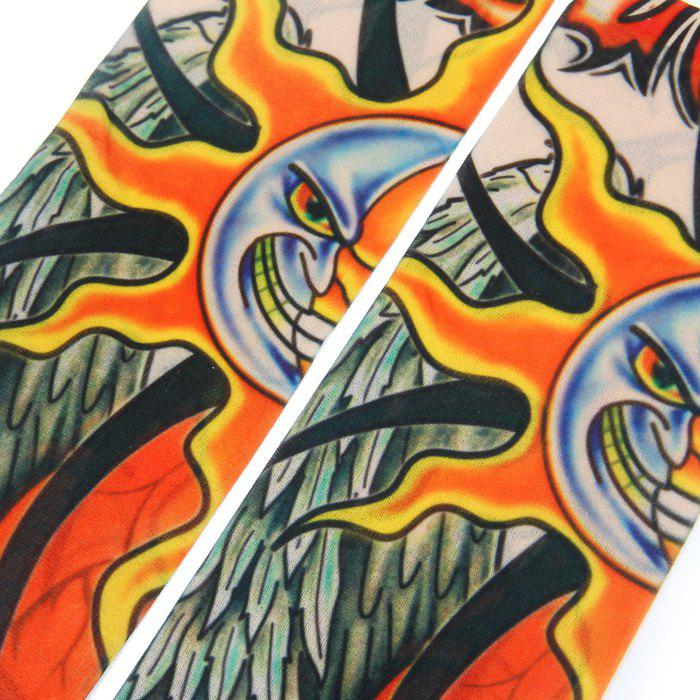 Cool Unisex Tattoo Sleeves Vivid Anti-UV Arm Cover for Cycling - AS THE PICTURE