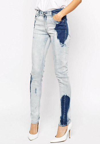 Stylish Pocket Design Mid-Waisted Women's Jeans - BLUE 2XL