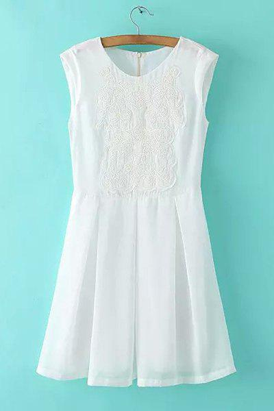 Gorgeous Sleeveless Round Neck Embroidered Women's Dress