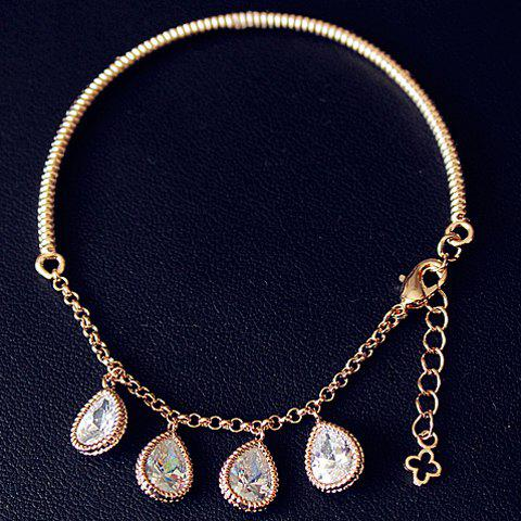 Chic Beads Water Drop Bracelet For Women - GOLDEN