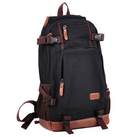 Fashionable Buckles and Color Block Design Backpack For Men