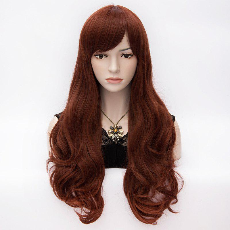 Daily Side Bang Towheaded Long Vogue Capless Heat Resistant Synthetic Wave Wig For Women - AUBURN /