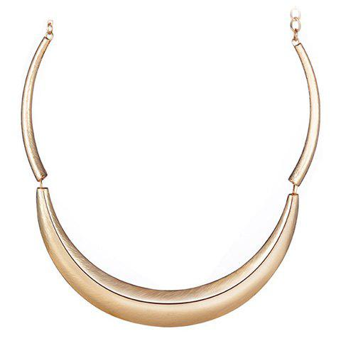 Simple Creative Moon Pendant Necklace For Women - GOLDEN
