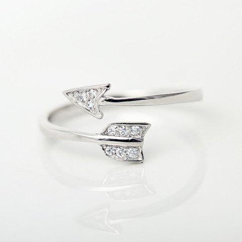 Arrow Cuff Ring - SILVER ONE-SIZE